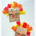 {No Glue} Turkey Craft For Thanksgiving