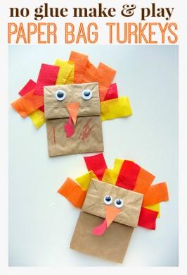 {No Glue} Turkey Craft For Thanksgiving
