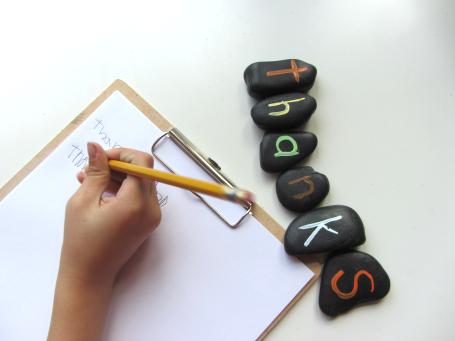 spelling stones for thanksgiving