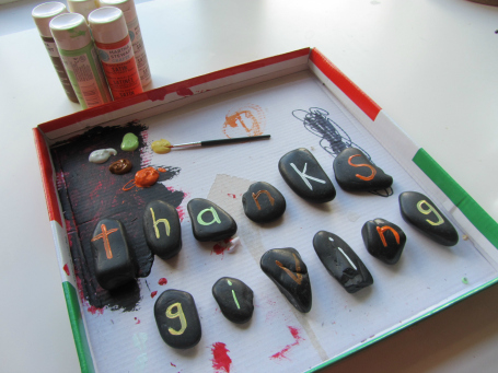 spelling stones painting