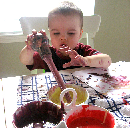 messy art for toddlers