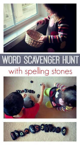 Word Scavenger Hunt with Spelling Stones