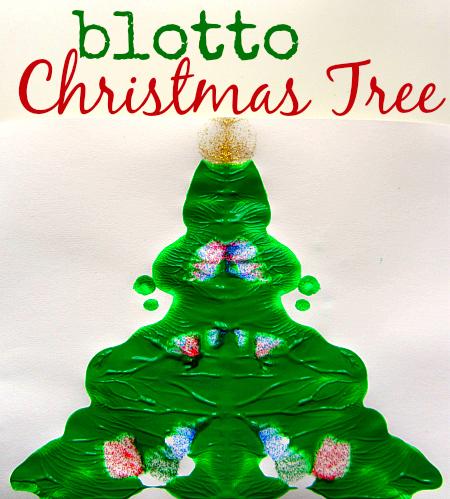 blotto christmas tree craft for kids