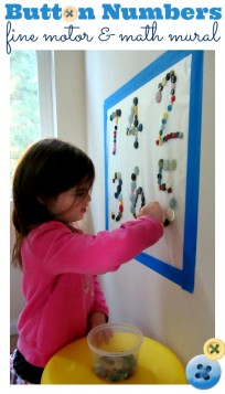 button number fine motor math mural