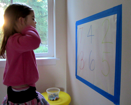 button number mural for preschool