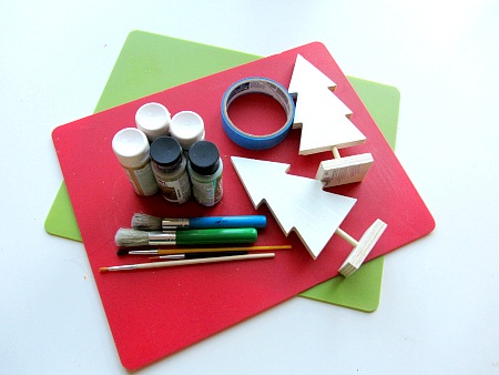 easy tape resist christmas tree craft for kids