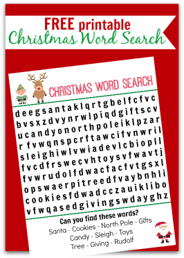 Christmas Word Search Free Printable