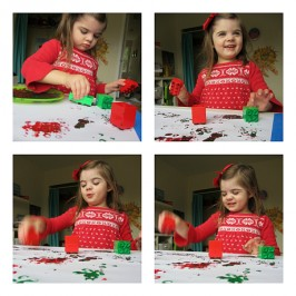 LEGO printed wrapping paper – Easy Christmas Craft