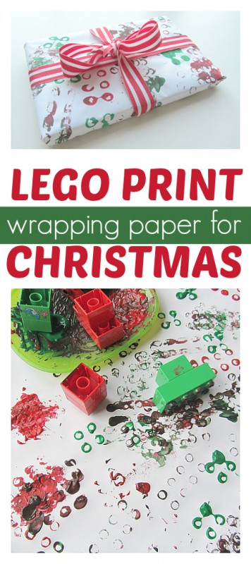 lego print wrapping paper
