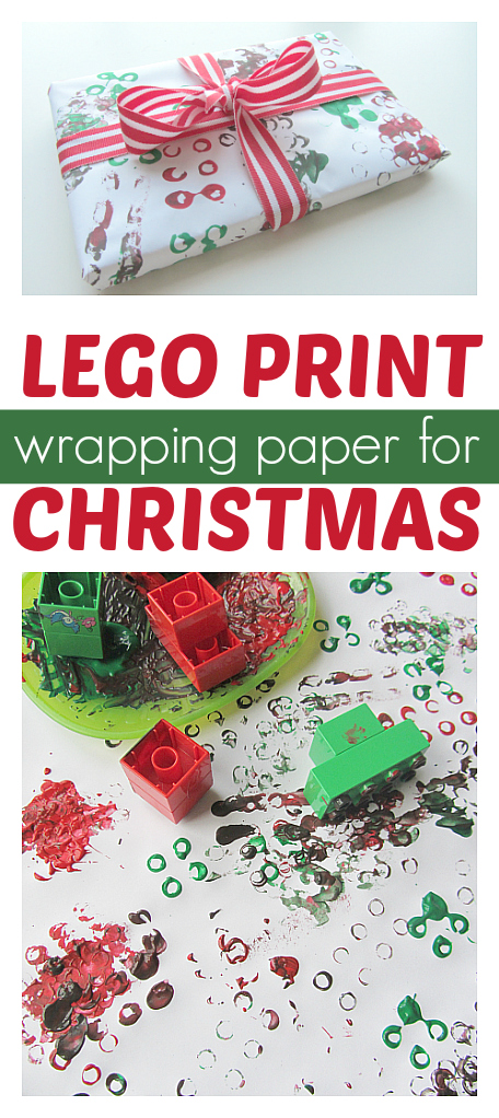 Lego printed wrapping paper easy christmas craft no for Christmas craft wrapping paper