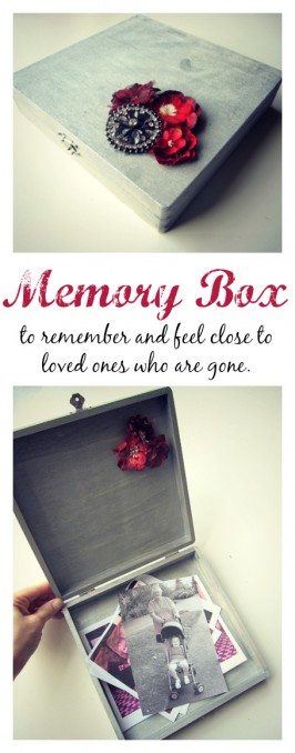 memory box craft to remember grandma
