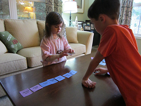 memory scavenger hunt for kids in new years