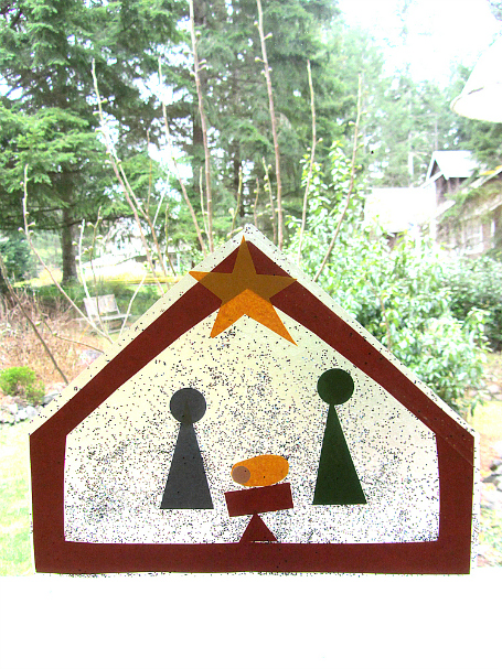 nativity suncatcher craft for christmas