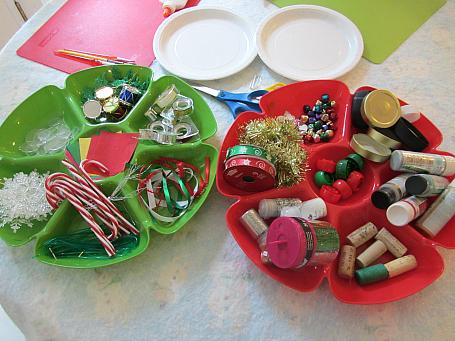 ornament making buffet