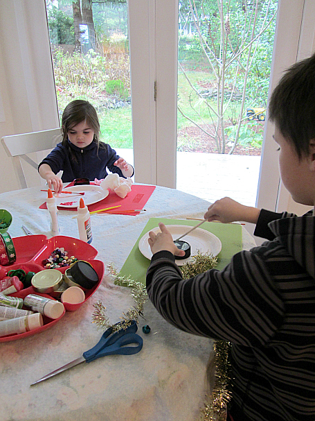 ornament making buffet for kids