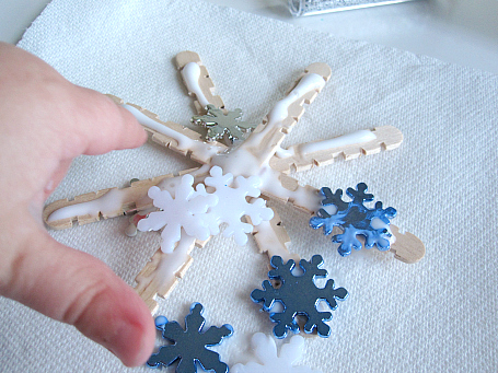 popscicle stick snowflake ornaments