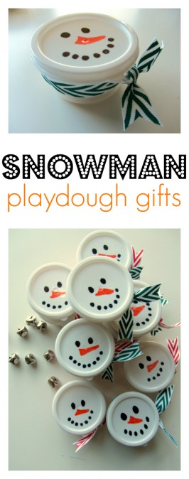 Snowman Playdough – Easy Holiday Gifts