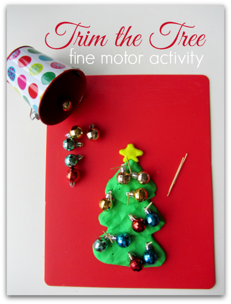 christmas fine motor activity for kids