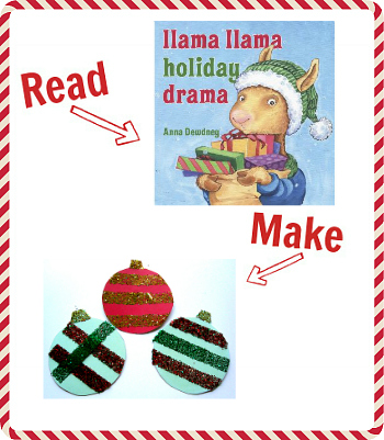 llama llama holidya drama craft idea