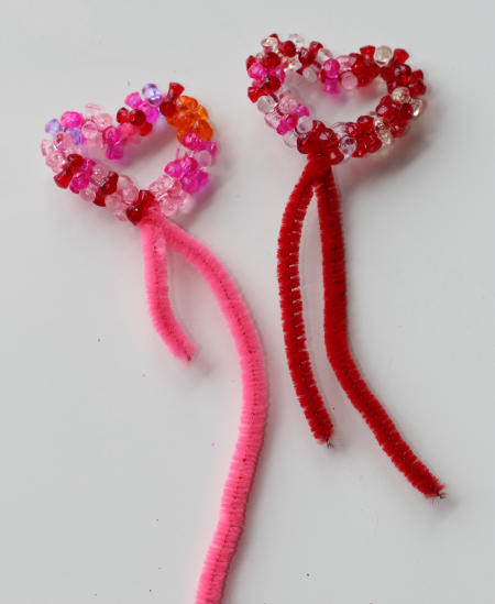 beaded heart fairy wands for valentine's day