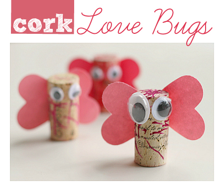 Cork Love Bugs Valentine S Day Craft No Time For Flash Cards