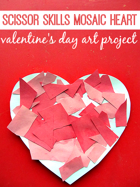 Mosaic heart valentine 39 s day craft for kids no time for Valentine day crafts for kids