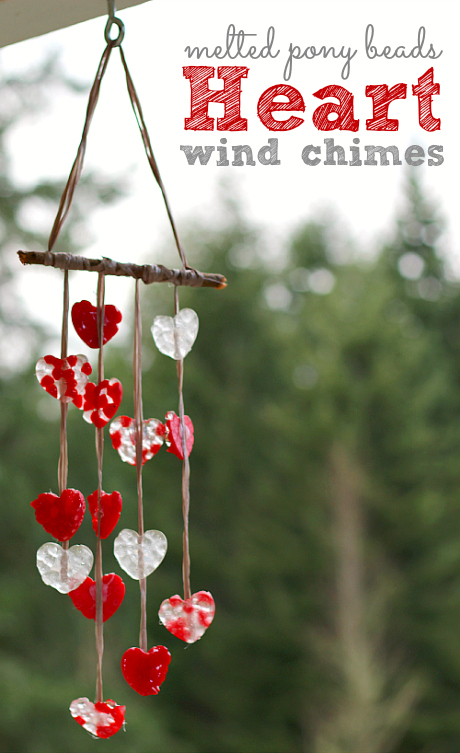 Melted Bead Craft Valentines Day Wind Chimes No Time For Flash