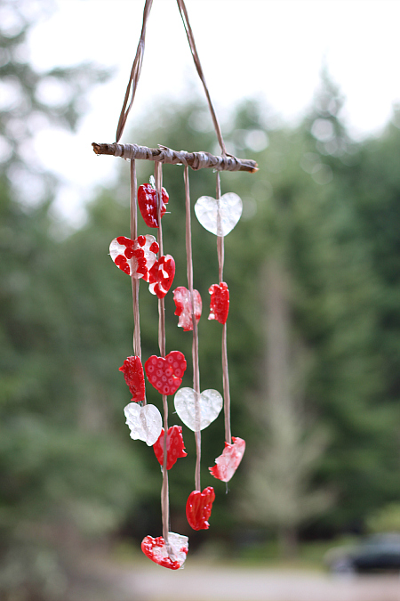heart windchimes for valentines day