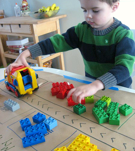 duplo color sorting