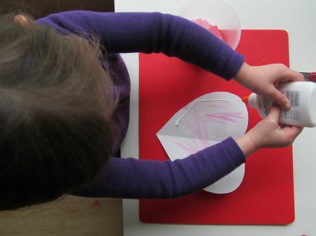 mosaic heart valentine's day craft for kids