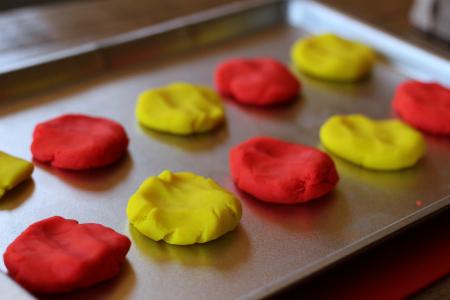 playdough letter match activity for children