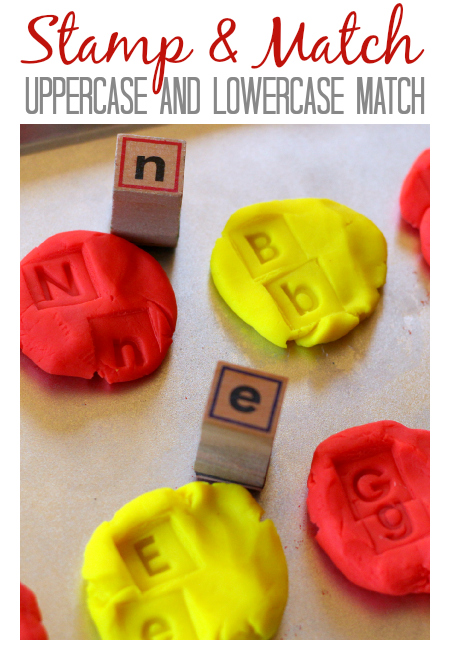 uppercase and lowercase letter match game for kids