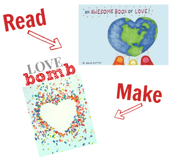 Read and Make valentines day crafts
