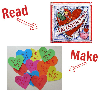 Read and Make valentines day for children