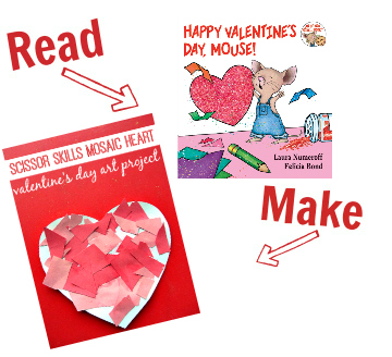 Read and Make valentines day for toddlers