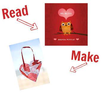 Read and Make valentines day heart craft