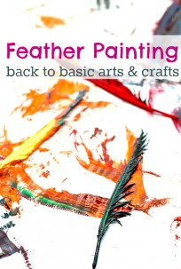 feather painting for toddlers