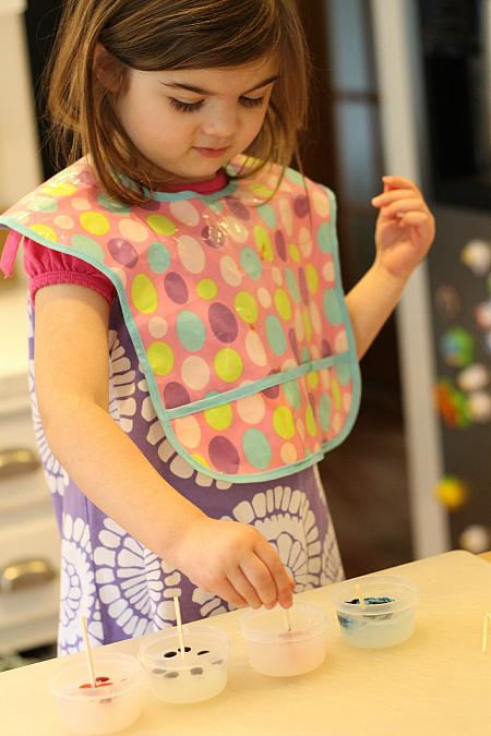 food coloring finger paints