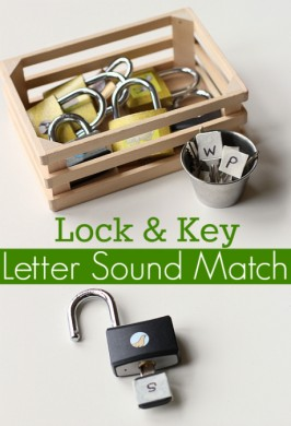 Letter Sounds Activity with Locks