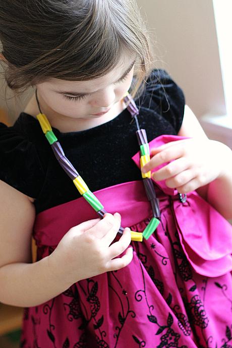 mardi gras necklace for kids