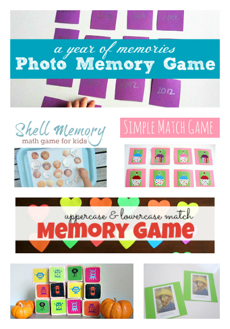 DIY memory games for kids