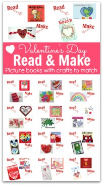 read and make books and crafts for valentine's day