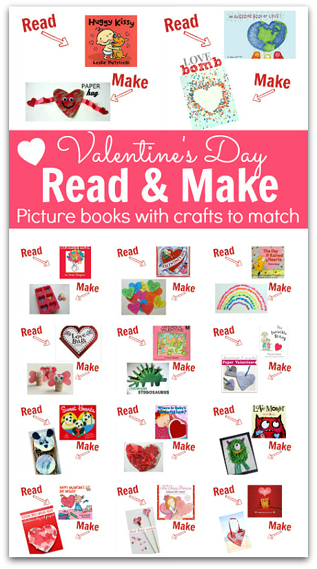 read make valentines day books and crafts