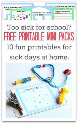 sick day printables for kids