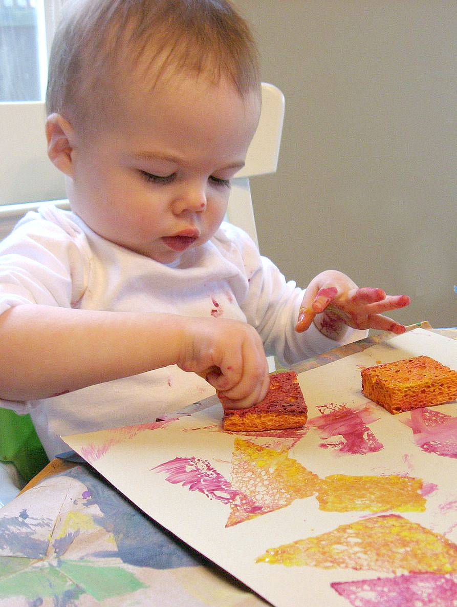 Sponge Painting For Babies Simple