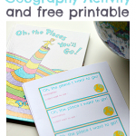 Dr.Seuss Geography Activity {FREE Printable}