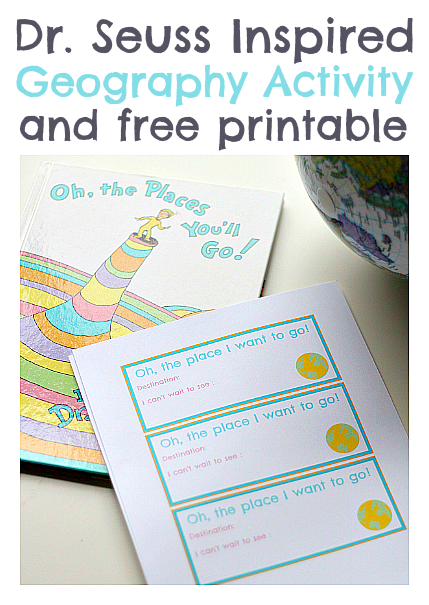 Dr Seuss Geography Activity No Time For Flash Cards