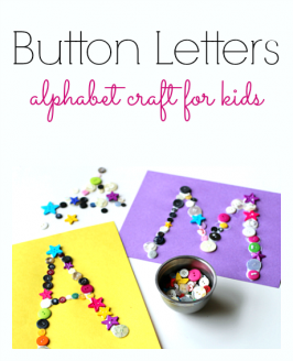 Button Letter Craft – Alphabet For Starters