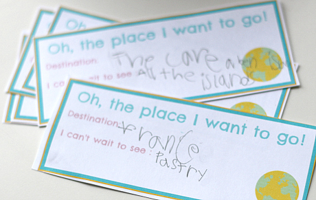 Dr.Seuss Geography Activity {FREE Printable} - No Time For Flash Cards