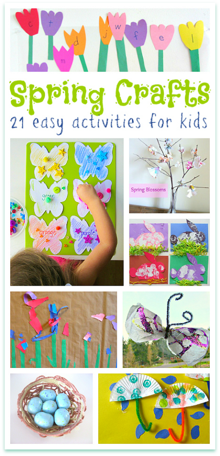 Spring Crafts For Kids Preschoolers No Time For Flash Cards